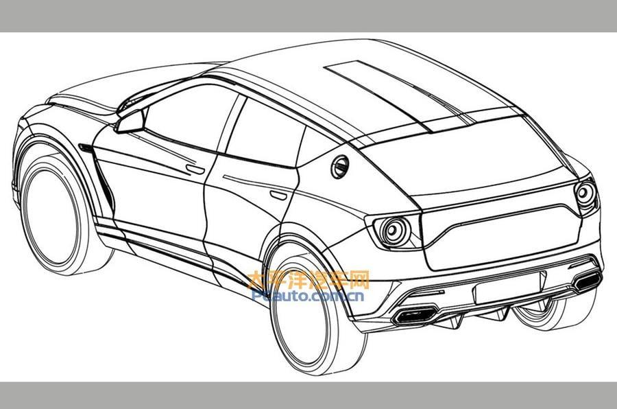 Lotus Yeni SUV Modeli - Patent Şeması