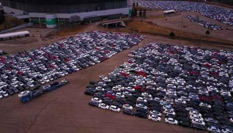 Volkswagen'ın Toplattığı Dizel Modellerinin Tutulduğu Yer Görüntülendi